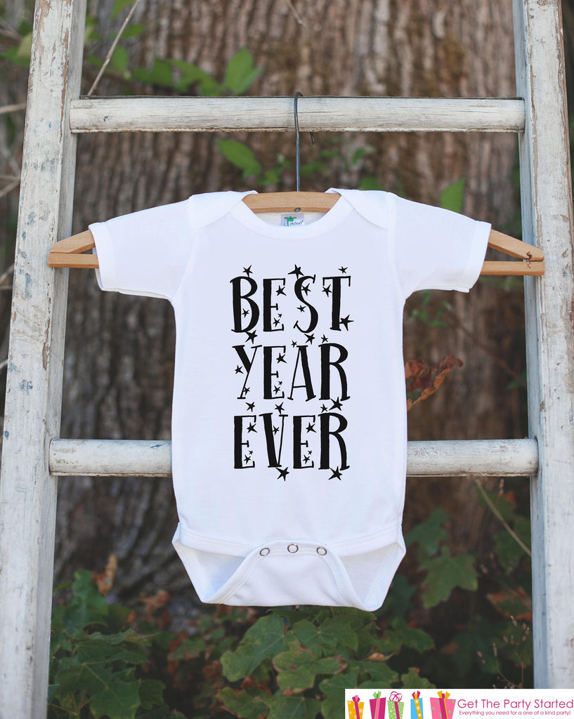 Kids New Year Outfit - Best Year Ever - Boy or Girl's New Years Eve Onepiece or T-shirt - Happy New Years Eve - Baby, Toddler, Youth