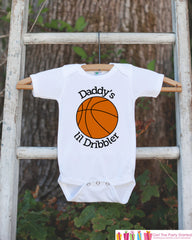 Daddy's Lil Dribbler Bodysuit - Basketball Onepiece Bodysuit - Basketball Outfit - Boys Romper - Novelty Basketball Baby Shower Gift
