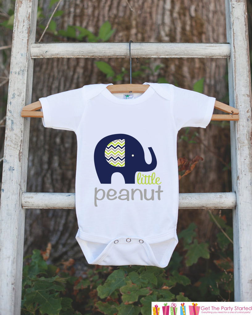 Navy Blue Elephant Bodysuit - Elephant Onepiece Bodysuit - Little Peanut Elephant Outfit - Novelty It's a Boy Gender Reveal Outfit - 7 ate 9 Apparel