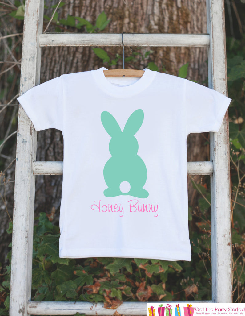 Honey Bunny Onepiece Bodysuit - Novelty Bodysuit Makes a Great Baby Shower Gift for a New Baby Girl - Easter Outfit - Girl's Spring Outfit - 7 ate 9 Apparel