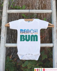 Beach Bum Bodysuit - Beach Onepiece - Water and Sand Summer Beach Vacation Novelty Onepiece Baby Shower Gift for New Baby Boy or Girl