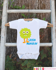 Little Monster Outfit - Novelty Boy's Baby Shower Gift - Humerous Onepiece - Monster Shirt - Monster Bodysuit - Little Monster Bodysuit
