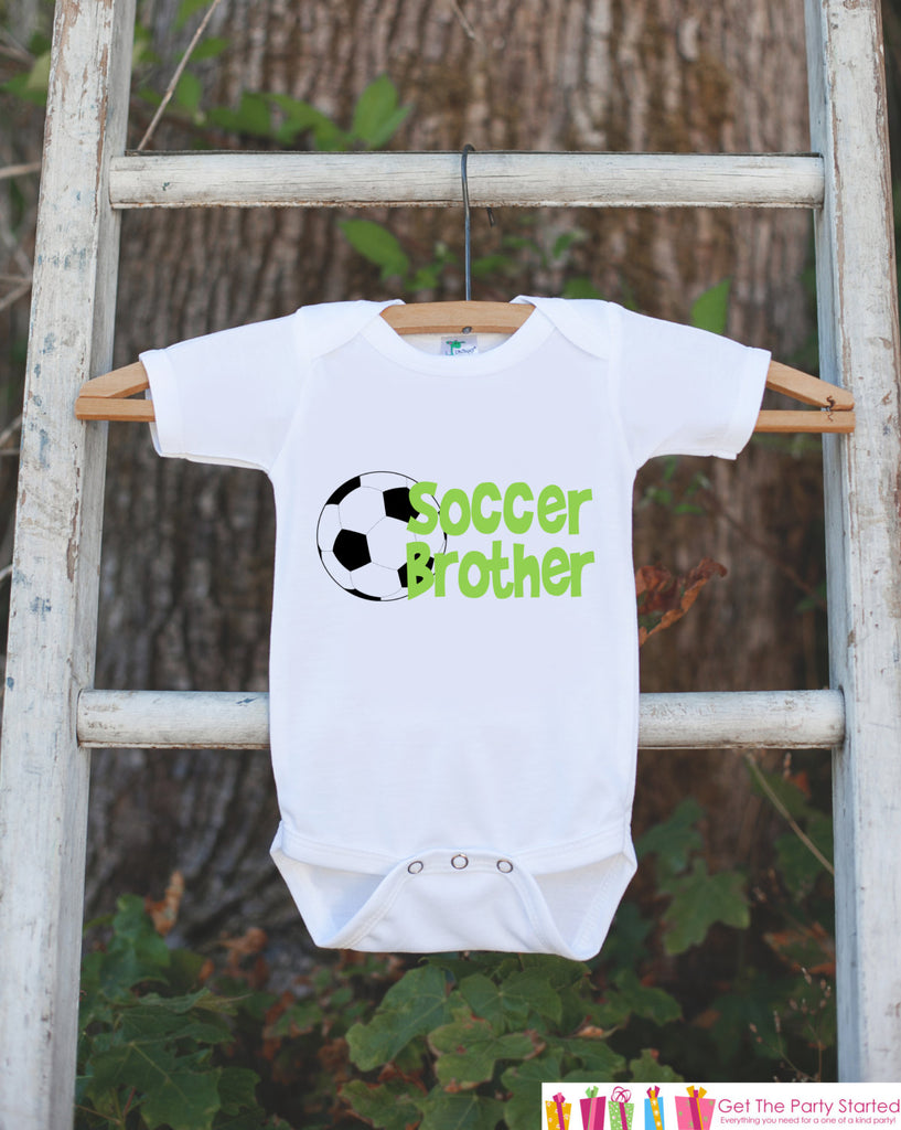 Soccer Brother Outfit - Novelty Newborn Baby Shower Gift - Baby Boy Onepiece - Soccer Shirt - Soccer Bodysuit - Infant Soccer Fan