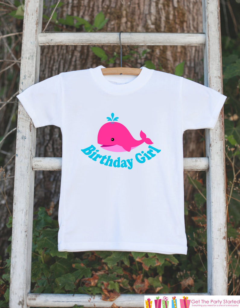 Birthday Girl Whale Bodysuit - Under The Sea Bodysuit For Girl's Birthday Party - Preppy Whale Onepiece Birthday Outfit - Ocean Birthday - 7 ate 9 Apparel