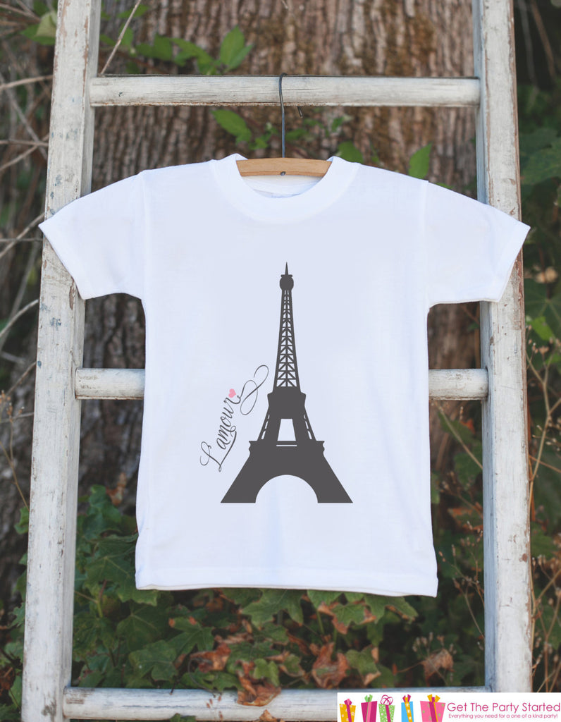 Eiffel Tower l'amour Outfit - Novelty Baby Shower Gift - French Eiffel Tower Love Outfit - Paris Onepiece Bodysuit - Infant Newborn Clothing