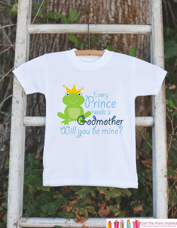 Will You Be My Godmother Outfit - Newborn Baby Boy Bodysuit - Every Prince Needs a Godmother Onepiece - Godchild and Godparent Keepsake