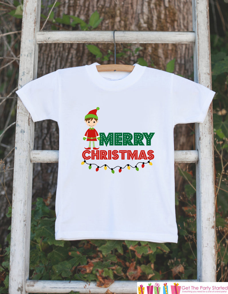 Merry Christmas Outfit - Elf Boy Christmas Onepiece - Baby's First Christmas Elf Bodysuit - Santa Outfit - Baby Boy's Christmas Outfit