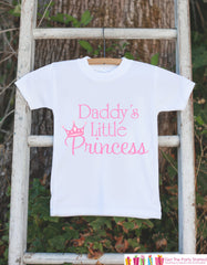 Daddy's Little Princess Bodysuit For Baby Girls - Pink Princess Onepiece - Novelty Onepiece Baby Shower Gift for New Baby Girl - Fathers Day