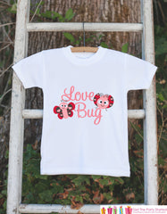 Novelty Love Bug Outfit For Baby Girls - Valentine's Day Love Bug Onepiece - Pink & Red Onepiece - Baby Shower Gift for Newborn Baby Girl