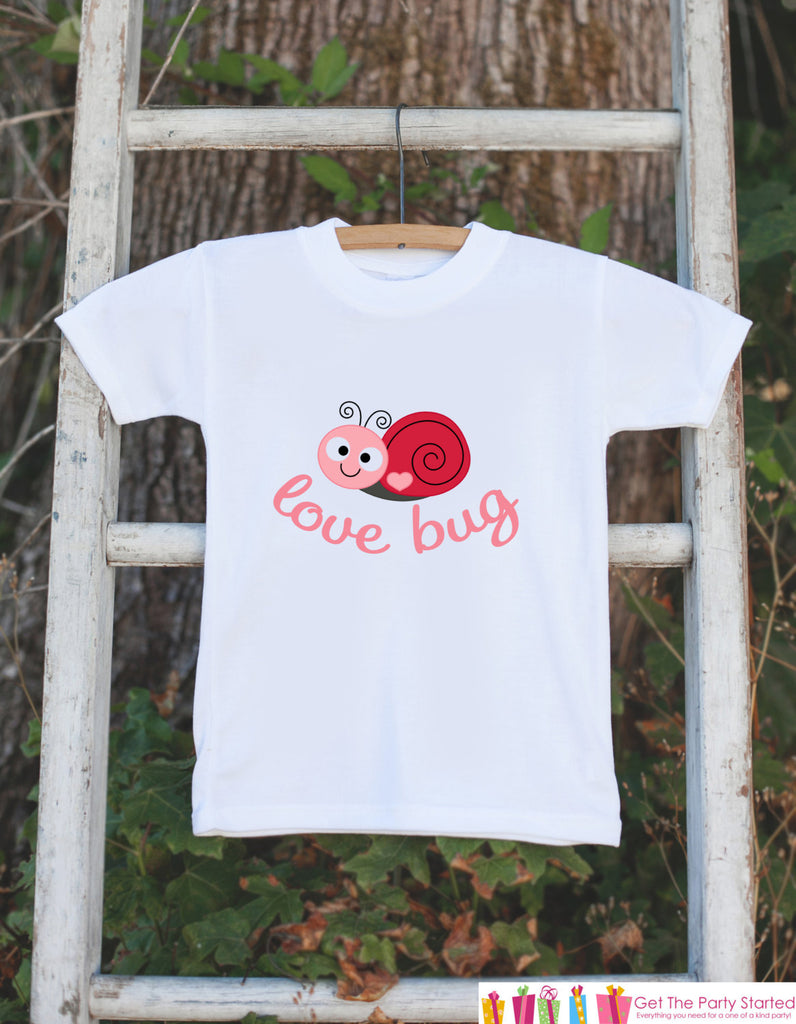 Novelty Love Bug Outfit For Baby Girls - Valentine's Day Love Bug Onepiece - Pink & Red Snail - Baby Shower Gift for Newborn Baby Girls
