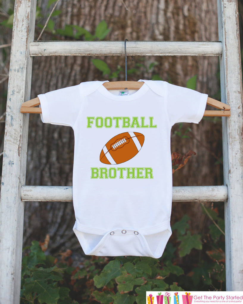 Football Brother Outfit - Novelty Newborn Baby Shower Gift - Baby Boy Onepiece - Football Shirt - Football Bodysuit - Infant Football Fan