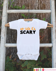 Kids Halloween Outfit - So Cute It's Scary - Baby's 1st Halloween Onepiece - Halloween Bodysuit for Baby Boy or Girl - 1st Halloween Outfit - 7 ate 9 Apparel