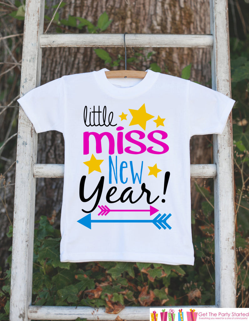 Girls New Years Outfit - Little Miss New Year - Happy New Years Eve Onepiece - Baby's First Holiday - 1st New Year Bodysuit for Baby Girls - 7 ate 9 Apparel