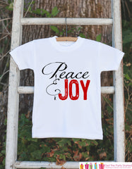 Kids Christmas Outfit - Peace & Joy Christmas Onepiece - Novelty Christmas Shirt for Baby Boy or Baby Girl - Kids Christmas Bodysuit - 7 ate 9 Apparel