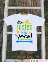 Boys New Years Outfit - Little Mister New Year - Happy New Years Eve Onepiece - Baby's First Holiday - 1st New Year Bodysuit for Baby Boys - 7 ate 9 Apparel
