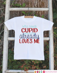 Boys Valentines Day Outfit - Who Needs Cupid Valentines Onepiece - Novelty Valentine Shirt for Baby Boys - Kids Valentines Day Outfit