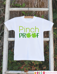 Kids St. Patricks Day Outfit - Pinch Proof Onepiece - Novelty St. Patricks Shirt for Baby Girls or Boys - Green Clover - Infant St Patricks - 7 ate 9 Apparel