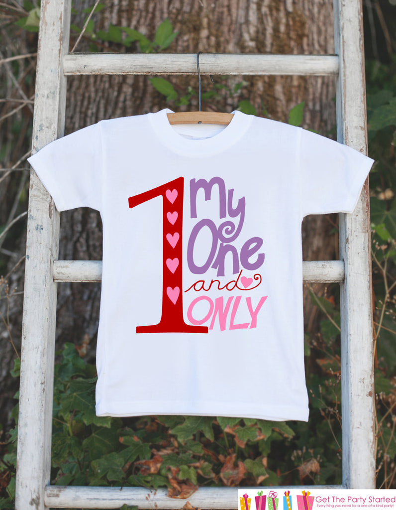 Girls Valentines Day Clothing - One and Only Valentine Outfit - Novelty Baby Girl Valentine Onepiece - Girl Valentines Outfit - Pink Hearts - 7 ate 9 Apparel