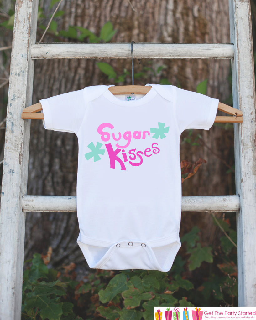 Girl Valentine Outfit - Sugar Kisses Valentine Outfit - Novelty Baby Girl Valentine Onepiece - Girl Valentines Outfit - Baby Girl Clothing - 7 ate 9 Apparel