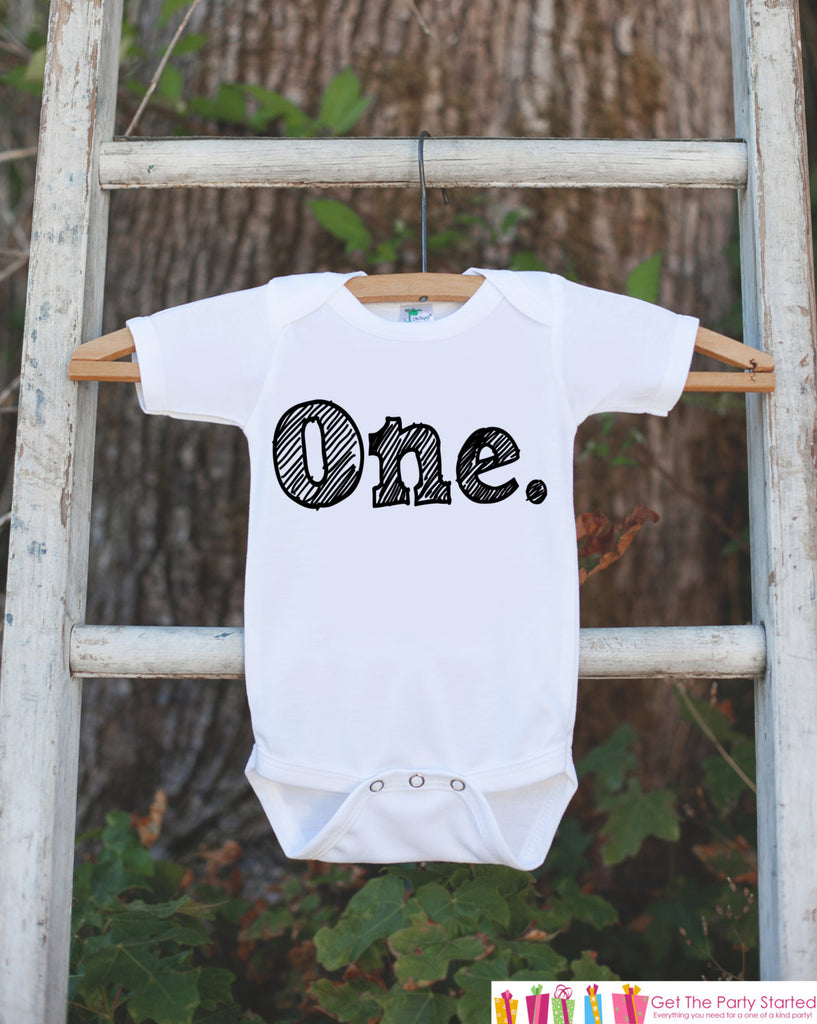 Birthday Boy Outfit - One First Birthday Onepiece For Boys's 1st Birthday Party - Baby Boy Birthday Shirt - Kids First Birthday Outfit Top