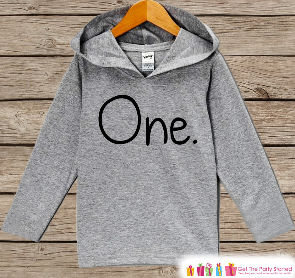 Birthday Outfit - Kids Hoodie - First Birthday Pullover - 1st Birthday Shirt - Boy's or Girl's Hoodie - First Birthday Top - Birthday Hoodie