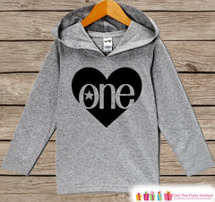 Kids Birthday Outfit - Kids Hoodie - ONE Rocker Pullover - 1st Birthday Shirt - Boy's Hoodie - First Birthday Shirt - Boy First Birthday Top - 7 ate 9 Apparel