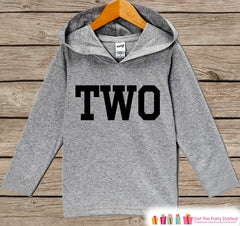 Boy Birthday Shirt - Kids Hoodie - Two Pullover - 2nd Birthday Outfit - Boys Birthday Hoodie - Second Birthday Shirt - Kids 2nd Birthday Top - 7 ate 9 Apparel