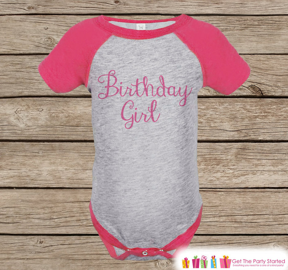 Birthday Girl Outfit - Girl 1st Birthday Raglan Onepiece - Girl's Birthday - Girl First Birthday Raglan Shirt - Girl 1st Birthday Outfit - 7 ate 9 Apparel