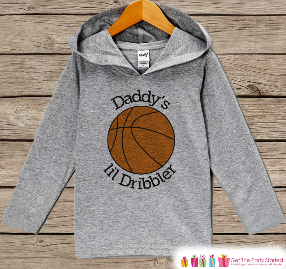 Kids Hoodie - Basketball Pullover Daddy's Dribbler Outfit - Grey Toddler Hoodie - Kids Hoodie - Basketball Shirt - Sports Hoodie Pullover