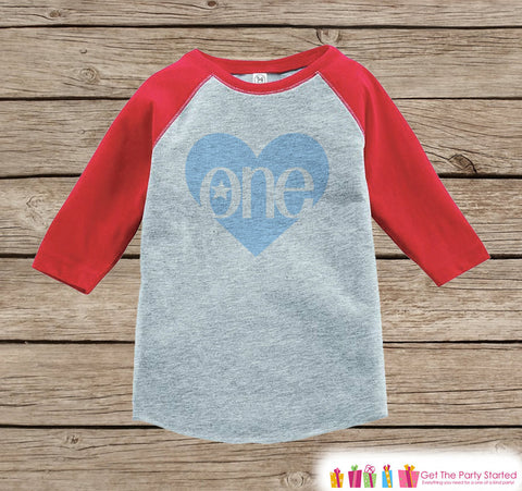 c1734c64d One Birthday Shirt - Kids One Onepiece or Tshirt - Boy 1st Birthday Outfit  - Blue