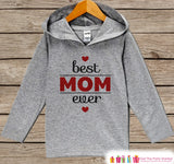 Boy's Mother's Day Outfit - Kids Hoodie - Best Mom Ever Shirt - Children's Pullover - Grey Toddler Hoodie - Infant Hoodie - Baby Boys