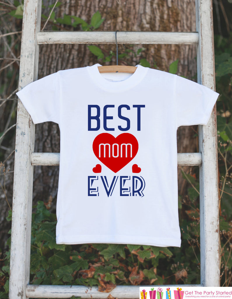 Boys Best Mom Ever Outfit - Happy Mother's Day Onepiece or Tshirt - Navy & Red Baby Boy Baby Shower Gift Idea - Mommy Gift - 1st Mothers Day - 7 ate 9 Apparel