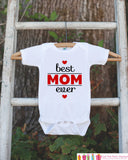 Boys Best Mom Ever Outfit - Happy 1st Mother's Day Onepiece or Tshirt - Baby Boy Baby Shower Gift Idea - New Mommy Gift - 1st Mothers Day - 7 ate 9 Apparel