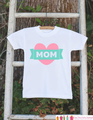 Girl's MOM Outfit - Happy Mother's Day Onepiece or Tshirt - Baby Girl's Outfit - Girl Baby Shower Gift Idea - Happy First Mothers Day Gift - 7 ate 9 Apparel