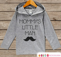 Kids Mother's Day Outfit - Kids Hoodie - Mommy's Little Man - Mustache Children's Pullover - Grey Toddler Hoodie - Infant Childrens Hoodie - 7 ate 9 Apparel