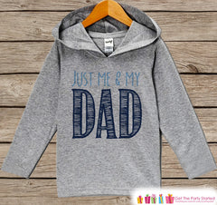 Kids Father's Day Hoodie - Grey Kids Hoodie - Just Me and My Dad - Happy Fathers Day Outfit - Toddler Boy or Girl Fathers Day Gift Idea - 7 ate 9 Apparel