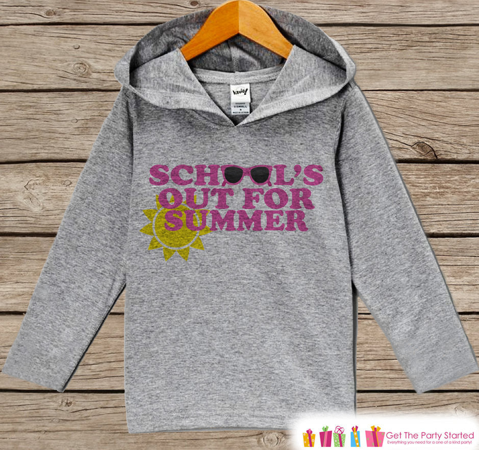 Kids Last Day of School Outfit - Girls School's Out for Summer Pullover - Pink Kids Hoodie - Last Day of School - School Outfit - Graduation - 7 ate 9 Apparel