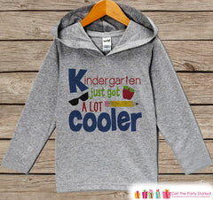 Kids First Day of Kindergarten Outfit - Kindergarten Just Got Cooler Shirt - Boys School Hoodie - My 1st Day of School Outfit for Boys - 7 ate 9 Apparel