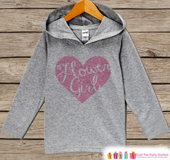 Girls Flower Girl Top - Kids Wedding Outfit - Pink Heart Flower Girl Hoodie - Children's Flower Girl Pullover - Wedding Flower Girl Gift - 7 ate 9 Apparel