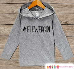 Girls Flower Girl Top - Kids Wedding Outfit - #Flowergirl Flower Girl Hoodie - Girls Hashtag Pullover - Funny Wedding Flower Girl Gift - 7 ate 9 Apparel