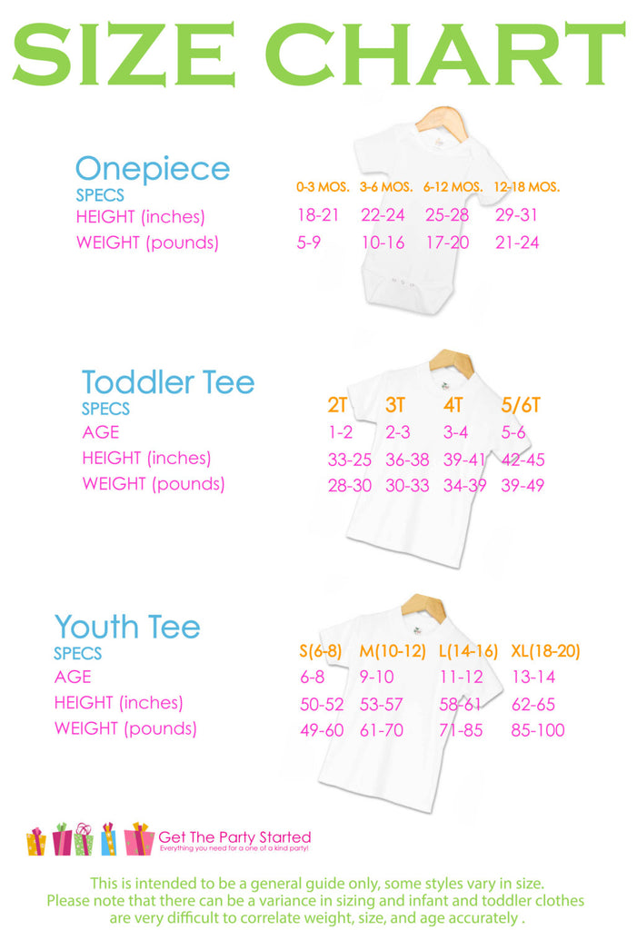 Military Mom kids sizing guide