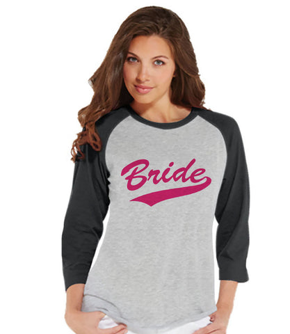 Bride Baseball Shirts - Bride Shirt - Wedding T-shirt - Bride To Be Grey Raglan Tee - Bachelorette Top - Bridal Party - Final Fling - 7 ate 9 Apparel
