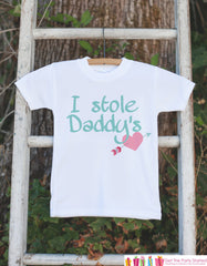 Girls Fathers Day Outfit - Happy Fathers Day Onepiece or Tshirt - Baby Girl or Boy, Toddler, Infant, Newborn, Fathers Day Gift - 7 ate 9 Apparel