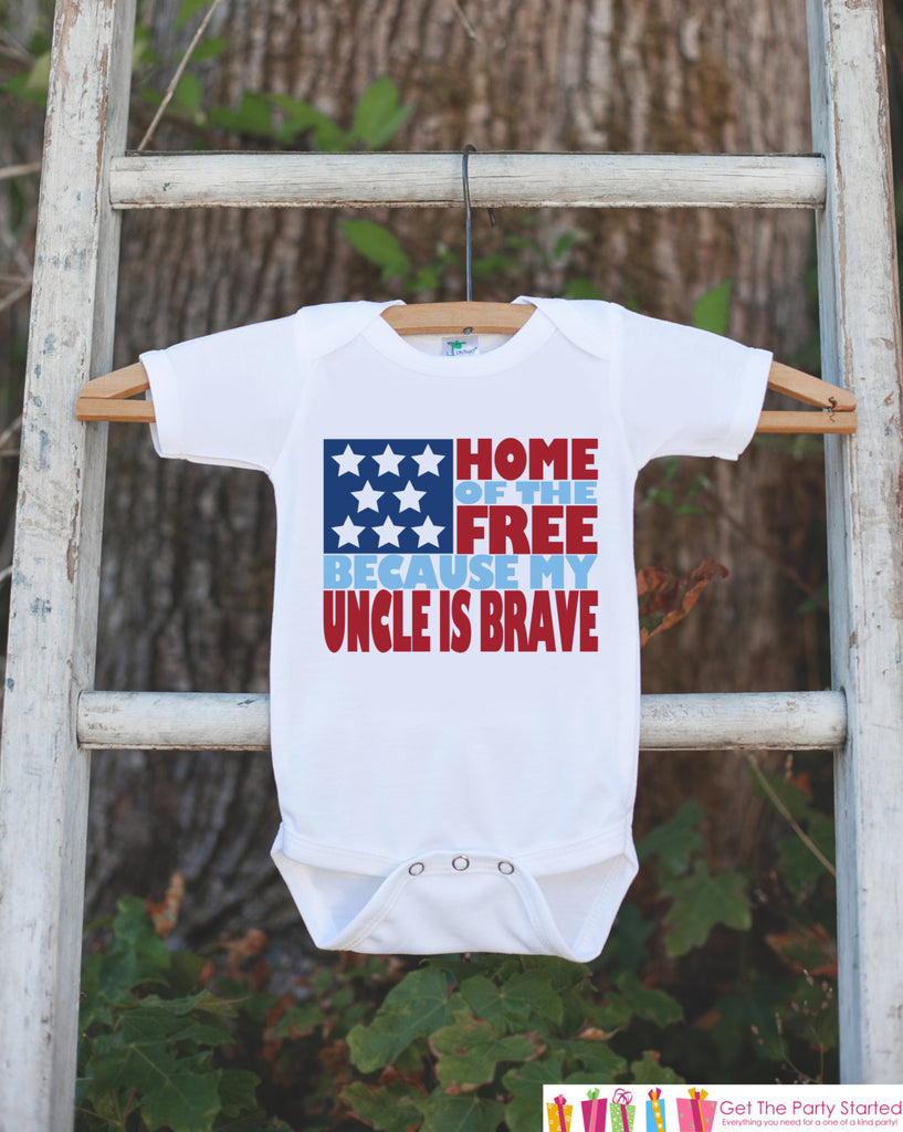 Military Uncle baby onesie