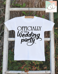 Kids Wedding Outfit - Officially in the Wedding Party Outfit - Kids Wedding Shirt - Boys or Girls Onepiece, Shirt - Wedding Keepsake - 7 ate 9 Apparel