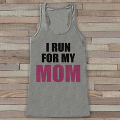 Women's I Run For Tank - Cancer Awareness Tank - Grey Tank Top - Grey Racerback Tank Top - Running Race Team Tanks - Fight Cancer Shirt - 7 ate 9 Apparel