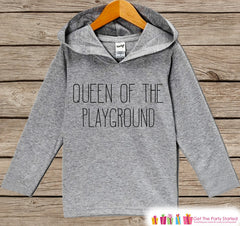 Girls School Outfit - Queen of the Playground - Back to School Pullover - Kids Hipster Top - Kids Hoodie - School Outfit for Toddler Girls - 7 ate 9 Apparel