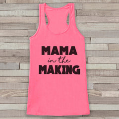 Pregnancy Announcement Tank - Simple Pregnancy Shirt - Mama in the Making Tank - Pink Tank Top - Pregnancy Announcement Shirt - New Mom