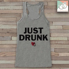Bridesmaid Tank Top - Just Drunk Tank Top - Bridal Party Wedding Shirt - Grey Tank Top - Bachelorette Party - Bridal Party Outfit - 7 ate 9 Apparel