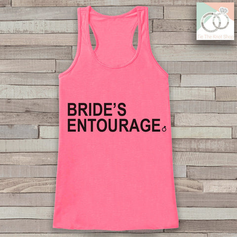 Bridesmaid Tank - Bride's Entourage Tank Top - Wedding Shirt - Pink Tank Top - Simple Top - Bachelorette Party - Bridal Party Outfit - 7 ate 9 Apparel
